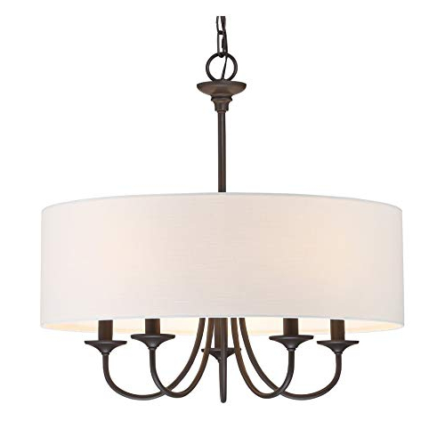 Best And Newest Breithaup 4 Light Drum Chandeliers Pertaining To Drum Chandelier: Amazon (Gallery 29 of 30)
