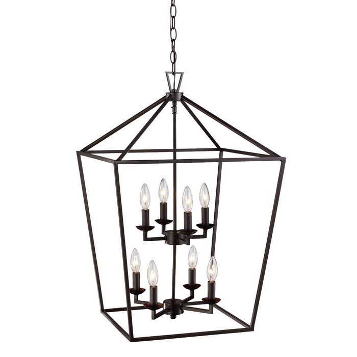 Best And Newest Carmen 8 Light Lantern Geometric Pendant Inside Carmen 8 Light Lantern Tiered Pendants (View 2 of 30)