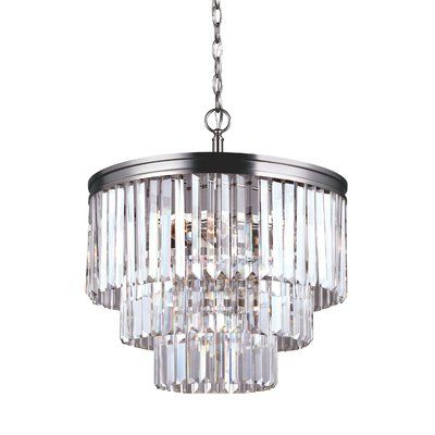 Best And Newest Clea 3 Light Crystal Chandelier In (View 21 of 30)