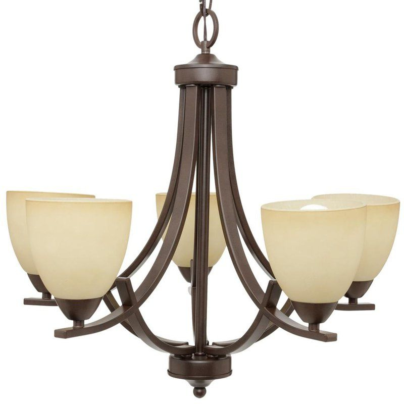 Best And Newest Crofoot 5 Light Shaded Chandeliers With Crofoot 5 Light Shaded Chandelier In (View 3 of 30)