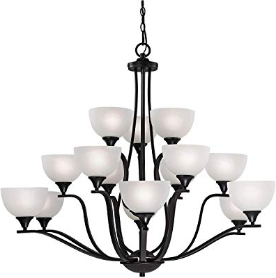 Best And Newest Elk 7637/5 5 Light Chandelier In Satin Nickel And Marbleized With Regard To Suki 5 Light Shaded Chandeliers (View 27 of 30)