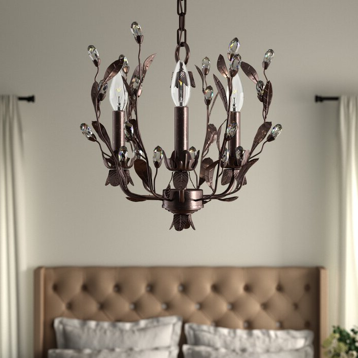 Best And Newest Giovanna 3 Light Candle Style Chandelier Within Hesse 5 Light Candle Style Chandeliers (Gallery 12 of 30)