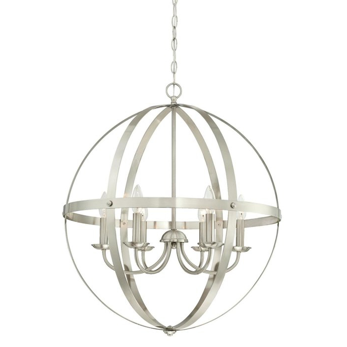 Best And Newest Joon 6 Light Globe Chandelier With Regard To Filipe Globe Chandeliers (View 2 of 30)