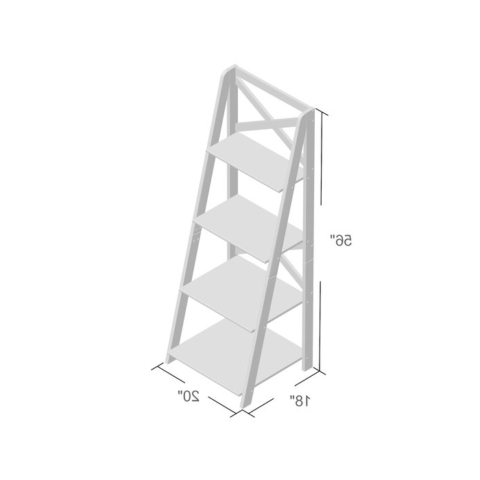 Best And Newest Kaitlyn Ladder Bookcase Intended For Kaitlyn Ladder Bookcases (View 1 of 20)
