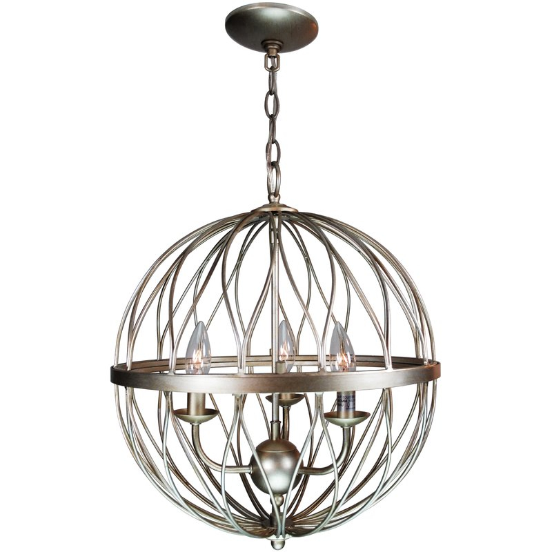 Best And Newest La Sarre 3 Light Globe Chandeliers Regarding Brittain 3 Light Globe Chandelier (View 3 of 30)