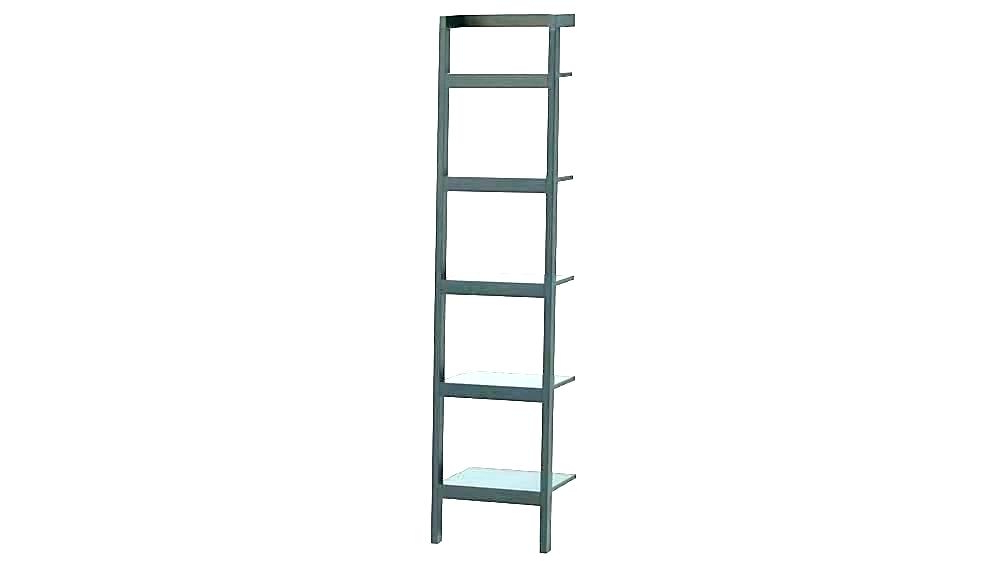 Best And Newest Narrow Ladder Bookcases Regarding Black Leaning Bookshelf Ladder Bookcase Narrow Shelf (View 18 of 20)
