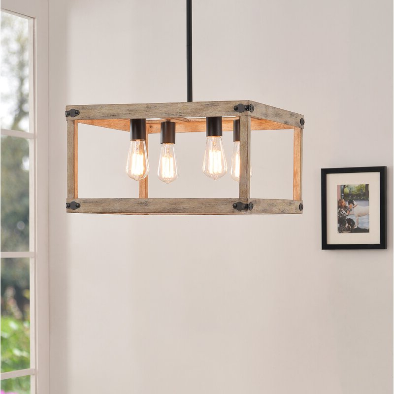 Best And Newest Pulver 4 Light Square Chandelier Within Delon 4 Light Square Chandeliers (Gallery 18 of 30)