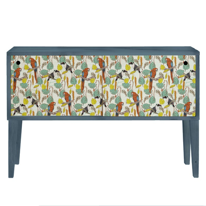Best And Newest Sideboards By Wildon Home With Tropical Parrots 2 Door Sideboard (View 3 of 20)