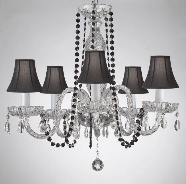 Best And Newest Thresa 5 Light Shaded Chandeliers For A46 B1/sc/384/5 – Crystal Chandelier Chandeliers Lighting (View 17 of 30)