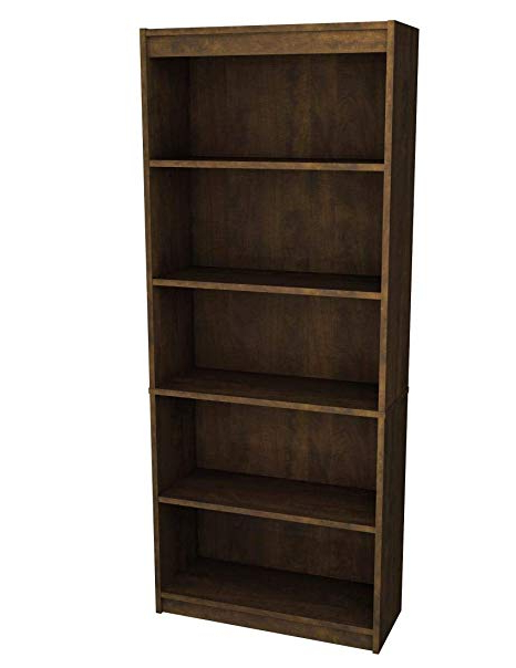 Bestar Inc 65715 1169 Standard Bookcase, Chocolate With Regard To Favorite Standard Bookcases (Gallery 3 of 20)