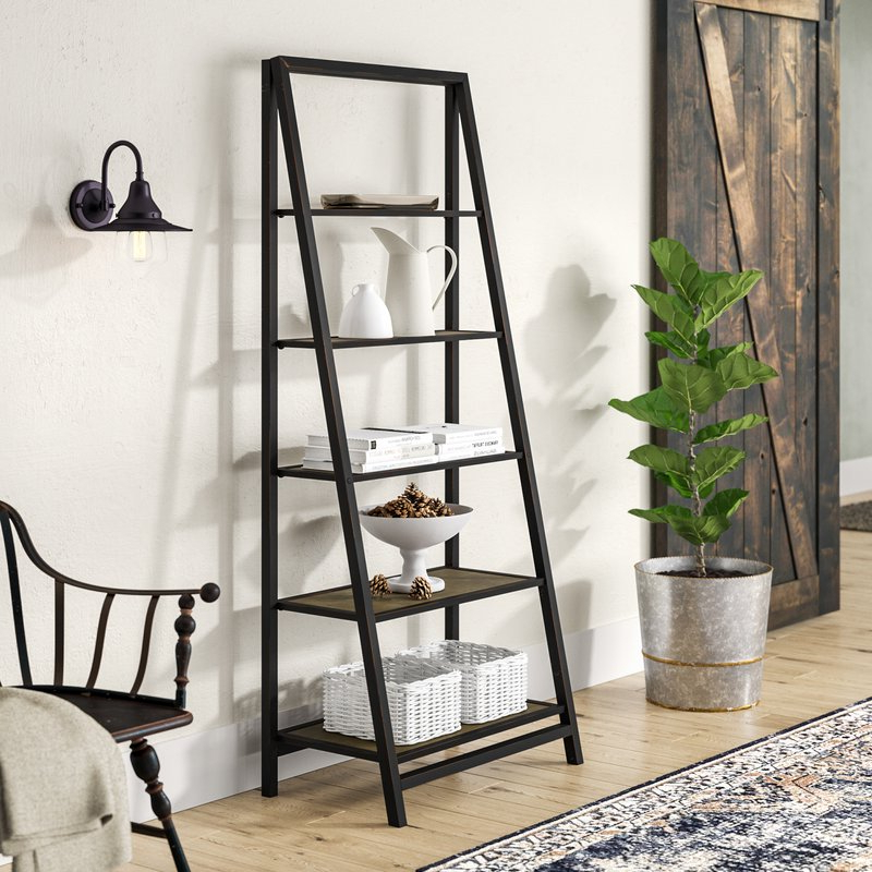 Blevens A Frame Ladder Bookcases In 2020 Walcott Ladder Bookcase (View 4 of 20)
