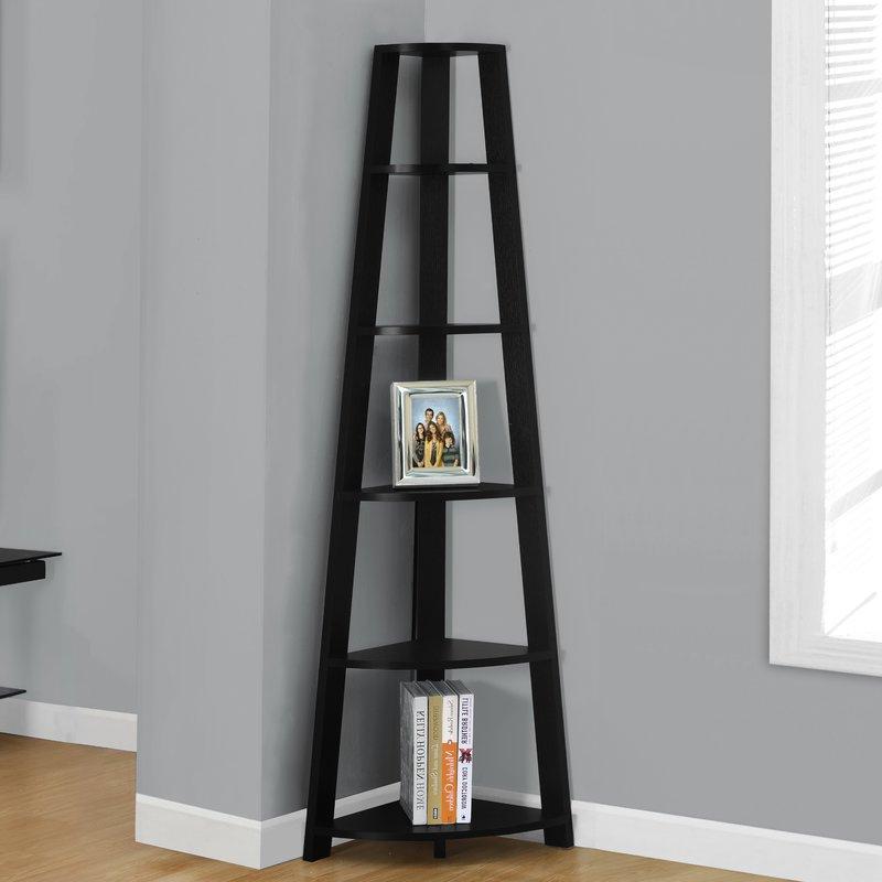 Blevens A Frame Ladder Bookcases Regarding Newest Arabella Corner Unit Bookcase (View 8 of 20)