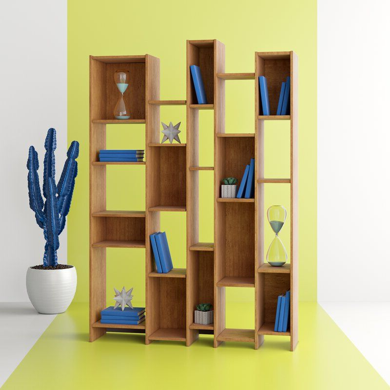 Bookcase With Fashionable Ansley Geometric Bookcases (View 18 of 20)