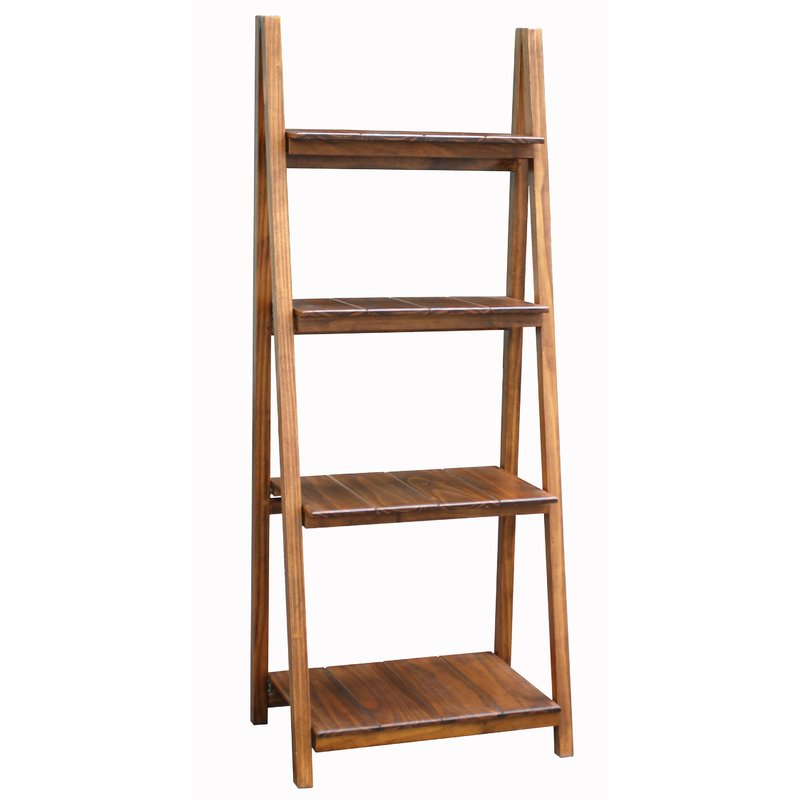 Bordelon Slatted Ladder Bookcase Within Trendy Brock Ladder Bookcases (View 5 of 20)