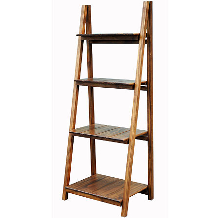 Bordelon Slatted Ladder Bookcases With Regard To Most Up To Date Manhasset Slatted 4 Shelf Folding Bookcase (View 4 of 20)