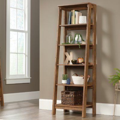 Bordelon Slatted Ladder Bookcases With Regard To Trendy Three Posts Massena Ladder Bookcase (View 5 of 20)