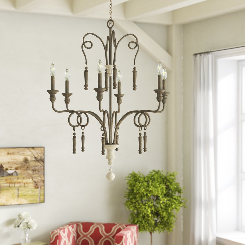 Bouchette 6 Light Candle Style Chandelier Regarding Most Up To Date Bouchette Traditional 6 Light Candle Style Chandeliers (View 6 of 30)