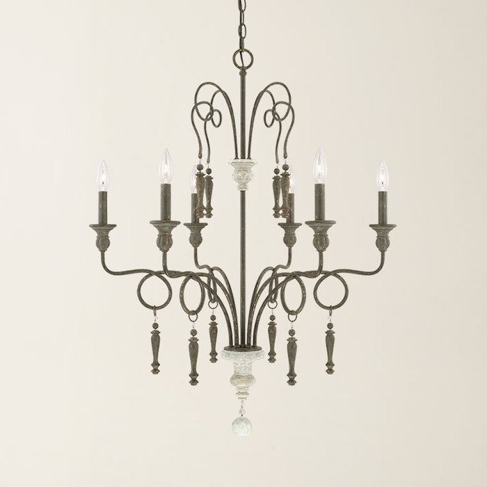 Bouchette 6 Light Candle Style Chandelier Within Most Up To Date Bouchette Traditional 6 Light Candle Style Chandeliers (View 7 of 30)