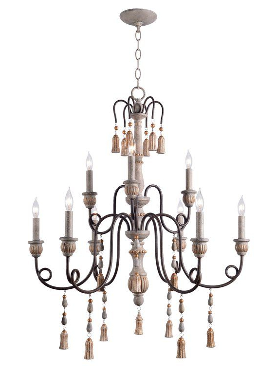 Bouchette Traditional 6 Light Candle Style Chandeliers In Most Recently Released Hassan 9 Light Candle Style Chandelier In  (View 9 of 30)