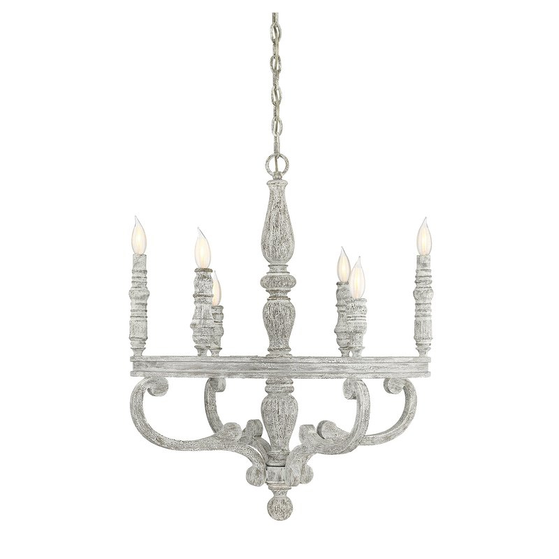 Bouchette Traditional 6 Light Candle Style Chandeliers In Well Known Lauritzen 6 Light Wagon Wheel Chandelier (View 10 of 30)