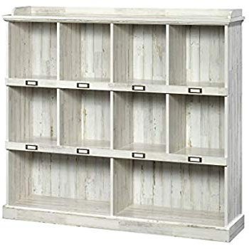 Bowerbank Standard Bookcases In Most Up To Date Sauder 423672 Barrister Lane Bookcase, White Plank Finish (Gallery 15 of 20)