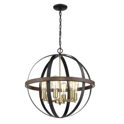 Breakwater Bay Jarrod 6 Light Globe Chandelier In 2019 In Widely Used Gregoire 6 Light Globe Chandeliers (View 7 of 30)