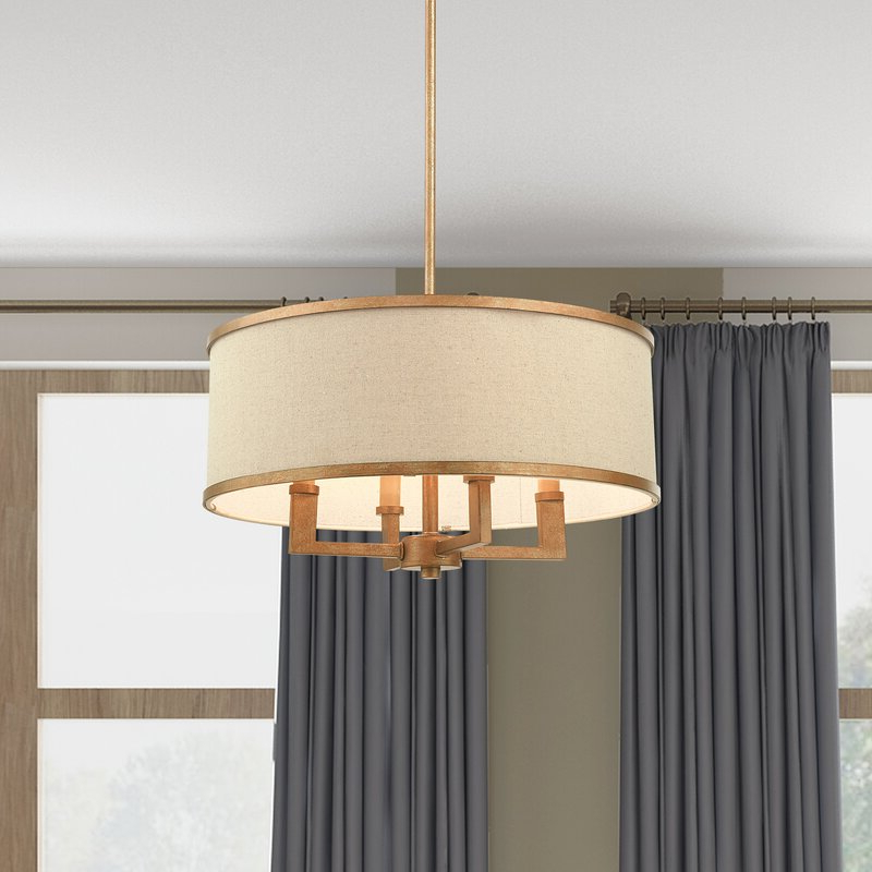 Breithaup 4 Light Drum Chandelier With Trendy Breithaup 4 Light Drum Chandeliers (View 10 of 30)