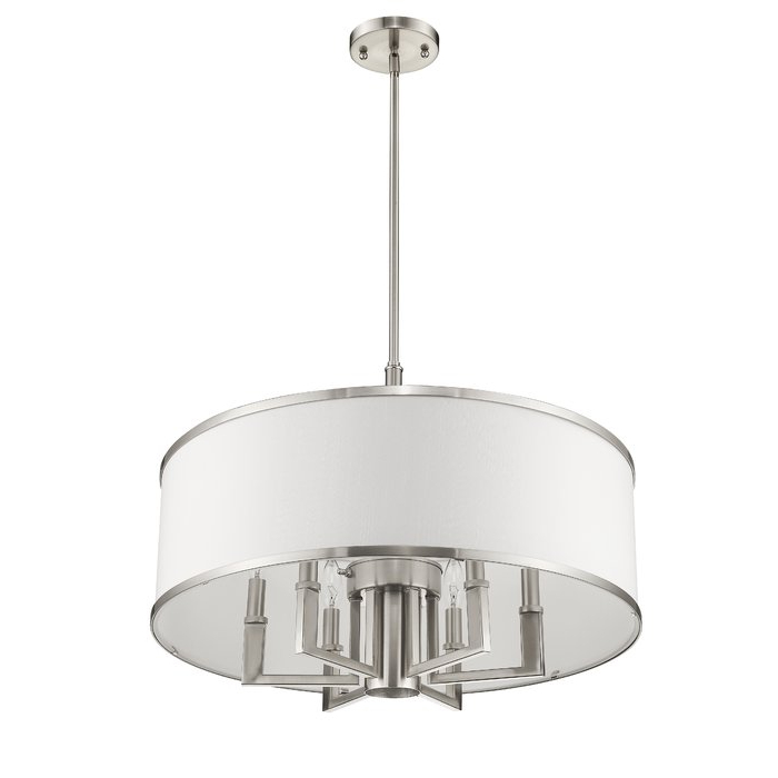 Breithaup 7 Light Drum Chandelier In Trendy Breithaup 4 Light Drum Chandeliers (View 18 of 30)