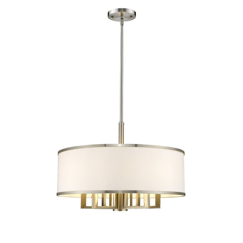 Breithaup 7 Light Drum Chandeliers Pertaining To Fashionable Breithaup 7 Light Drum Chandelier (View 3 of 30)