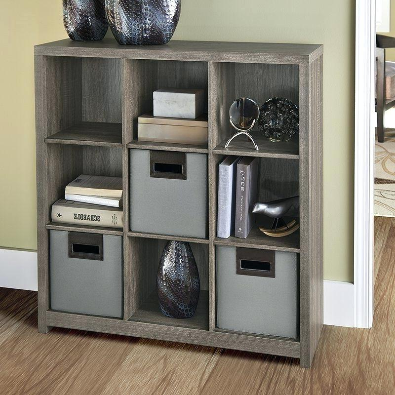 Broadview Cube Unit Bookcases For Most Popular Decorative Storage Cube Unit Bookcase Dorel Bailey 9 (Gallery 19 of 20)