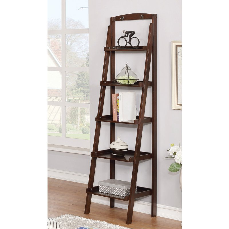 Brock Ladder Bookcases Throughout Well Known Shellie Ladder Bookcase (View 9 of 20)