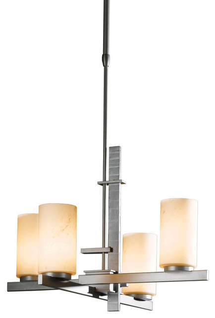 Bronze Ondrian 4 Light Pendant, Long, Glass: Opal In Current Blanchette 5 Light Candle Style Chandeliers (View 13 of 30)