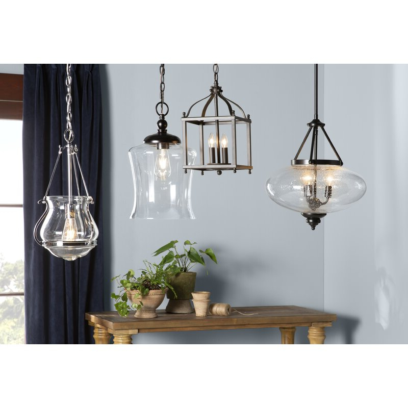 Brumley 2 Light Foyer Pendant With Most Up To Date Leiters 3 Light Lantern Geometric Pendants (View 2 of 30)