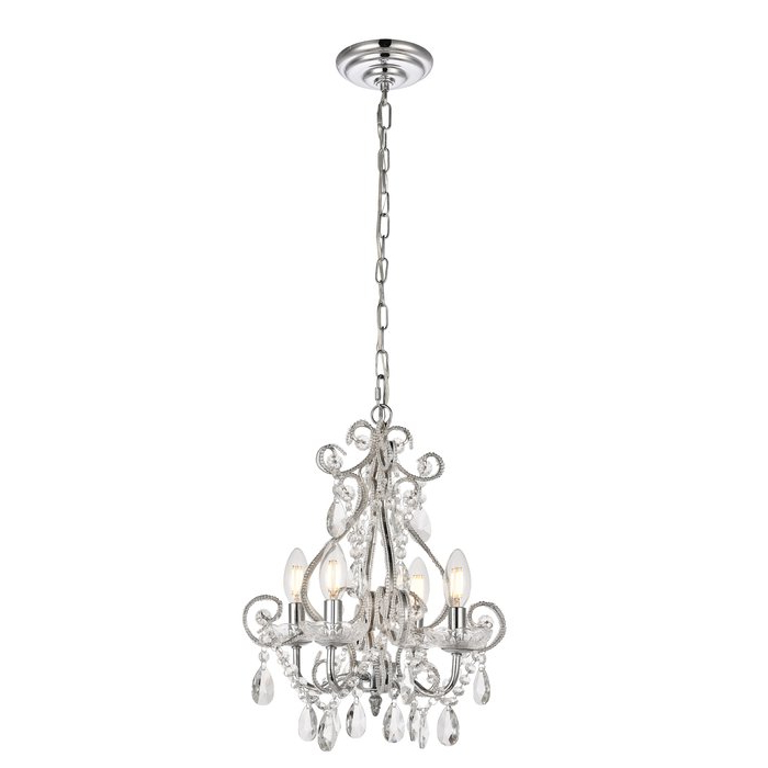 Burcott 4 Light Candle Style Chandelier Intended For Trendy Aldora 4 Light Candle Style Chandeliers (View 5 of 30)