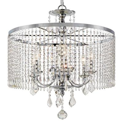 Burton 5 Light Drum Chandeliers For Most Recently Released Drum – Chandeliers – Lighting – The Home Depot (View 20 of 30)