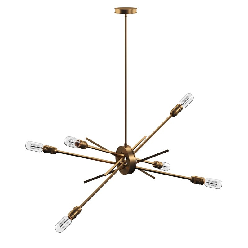 Byler 6 Light Sputnik Chandelier Intended For Trendy Donna 6 Light Globe Chandeliers (Gallery 23 of 30)