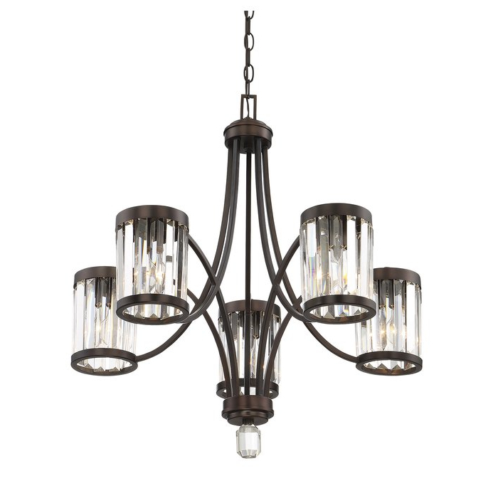 Caesar 5 Light Shaded Chandelier For Trendy Kenna 5 Light Empire Chandeliers (Gallery 18 of 30)