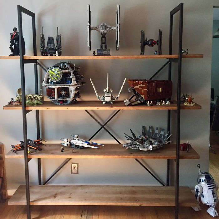 Caitlyn Etagere Bookcase (View 2 of 20)