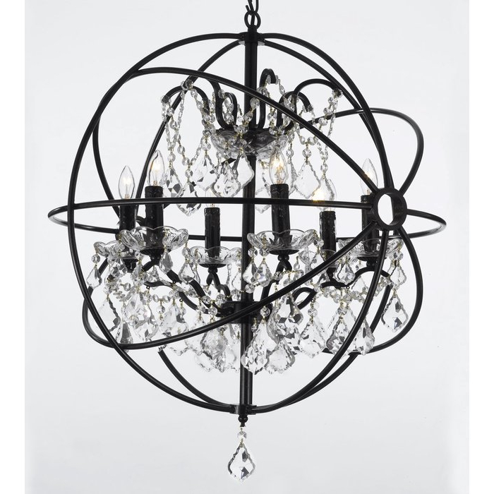 Calderdale Orb 6 Light Globe Chandelier Pertaining To Most Popular Alden 6 Light Globe Chandeliers (View 11 of 30)