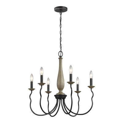 Candle Style – Chandeliers – Lighting – The Home Depot Intended For Popular Hamza 6 Light Candle Style Chandeliers (Gallery 24 of 30)
