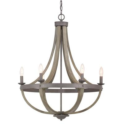 Candle Style – Chandeliers – Lighting – The Home Depot Pertaining To Well Known Bennington 6 Light Candle Style Chandeliers (View 13 of 30)