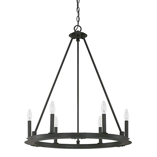 Capital Lighting 4916Bi 000 Six Light Chandelier Intended For 2019 Janette 5 Light Wagon Wheel Chandeliers (View 5 of 30)