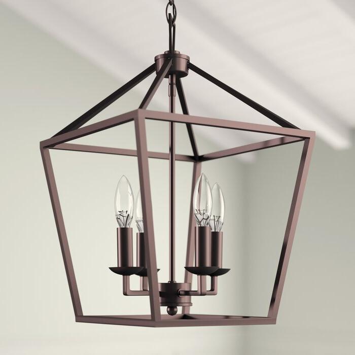 Carmen 4 Light Lantern Geometric Pendant With Favorite Carmen 8 Light Lantern Tiered Pendants (View 4 of 30)