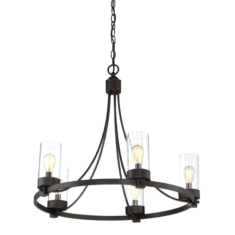 Carmen 6 Light Lantern Geometric Pendants Within Well Known Laurel Foundry Modern Farmhouse Lighting 5 Light Wagon Wheel (Gallery 23 of 30)