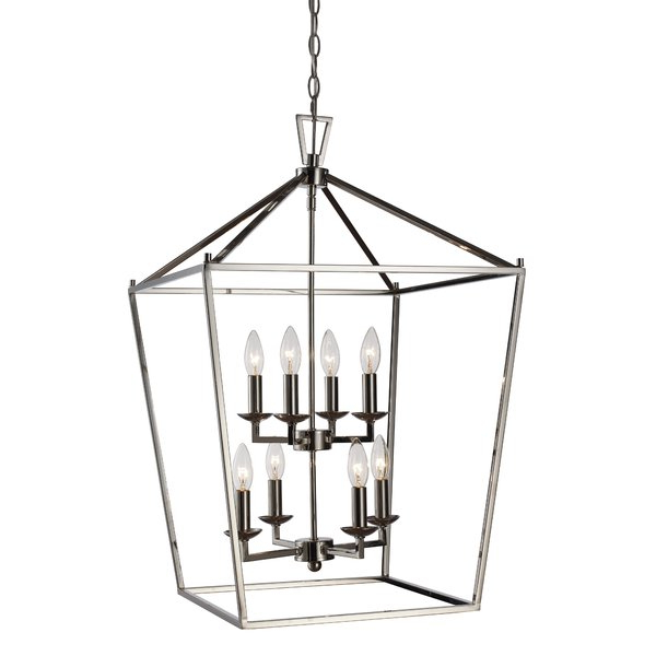 Carmen 8 Light Lantern Tiered Pendants In Most Recent Carmen 8 Light Lantern Geometric Pendant (Gallery 25 of 30)