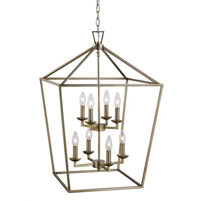 Carmen 8 Light Lantern Tiered Pendants Intended For Preferred Carmen 8 Light Foyer Pendant Wayfair $202 Antique Silver (Gallery 30 of 30)