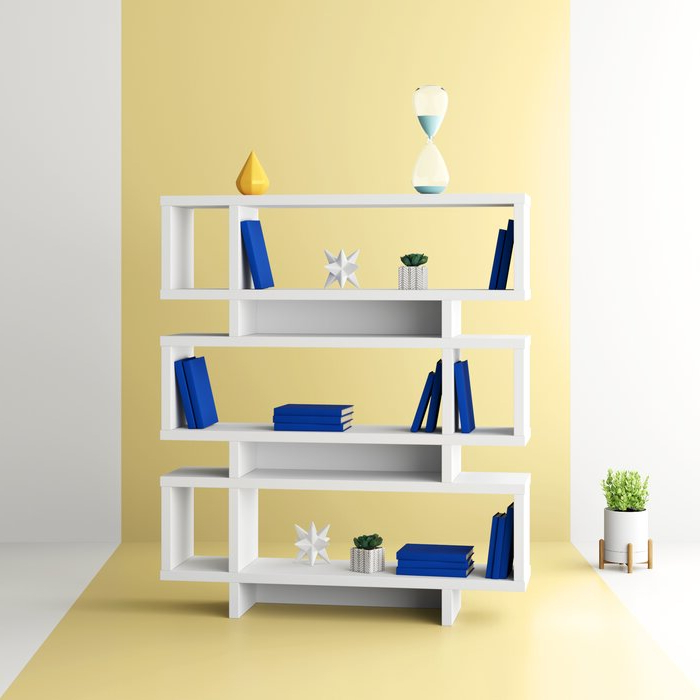 Carnageeragh Geometric Bookcases With Preferred Aleksandra Geometric Bookcase (View 19 of 20)