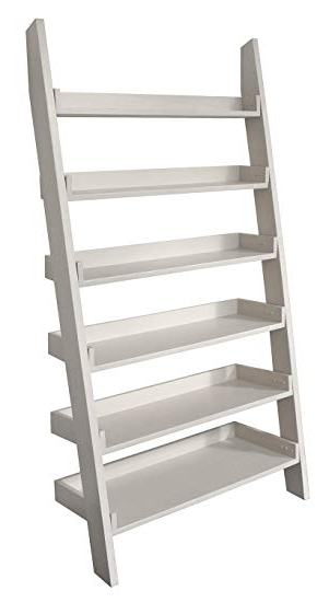 Casamoré Gloucester Wooden Tall Wide Large Ladder Shelf 6 Shelving Unit  Bookcase Storage – Pearl White Painted In 2020 Wide Ladder Bookcases (View 3 of 20)