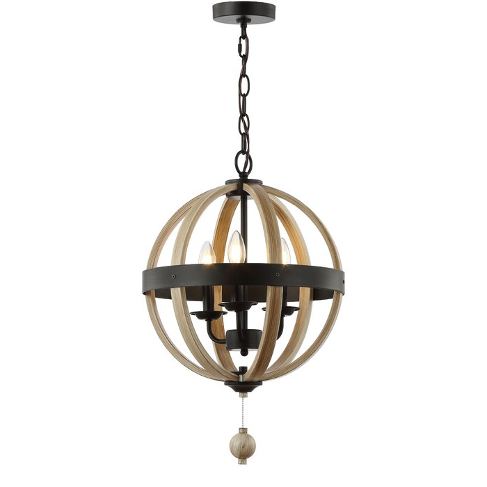 Cauthen 3 Light Globe Chandelier For Most Recently Released La Barge 3 Light Globe Chandeliers (Gallery 5 of 30)