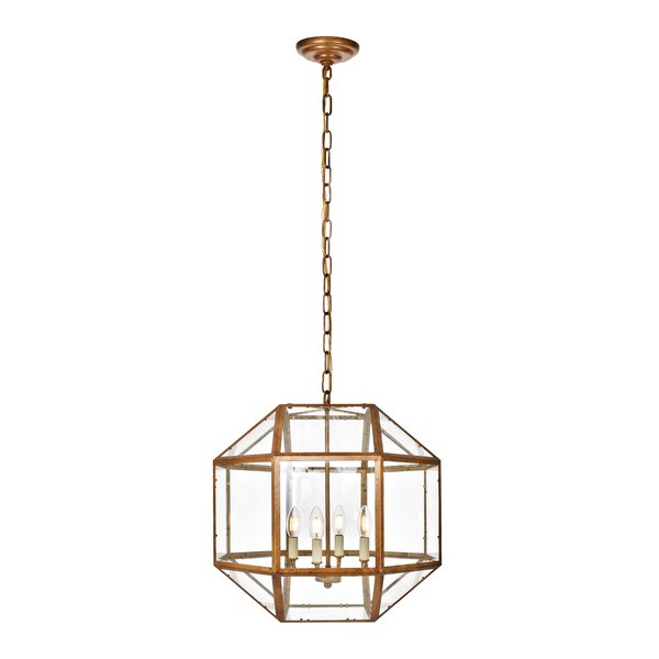 Cavanagh 4 Light Geometric Chandeliers Regarding Famous Modern & Contemporary Geometric Cage Chandelier (View 18 of 30)
